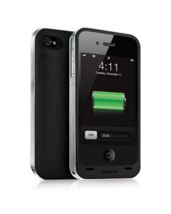 Mophie Juice Pack Air Case and Rechargeable Battery (Black, Verizon and AT&T iPhone 4)