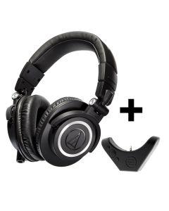 Audio Technica ATH M50X Over Ear Professional Headphones and BAL-M50X Bluetooth Adaptor for Premium Wireless Audio