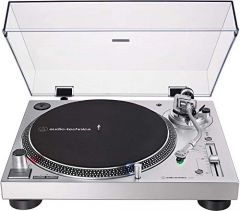 Audio-Technica AT-LP120XUSB Direct-Drive Turntable (Analog & USB), Silver, Hi-Fidelity, Plays 33 -1/3, 45, and 78 RPM Records, Convert Vinyl to Digital, Anti-Skate Control, Variable Pitch Control