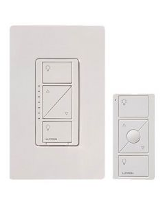 Lutron Caseta Wireless Smart Lighting Dimmer Switch and Remote Kit for Wall & Ceiling Lights | P-PKG1W-WH |  White