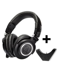 Audio Technica ATH M50X Over Ear Professional Headphones and BAL-M50X Bluetooth Adaptor for Premium Wireless Audio
