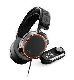 SteelSeries Arctis Pro + GameDAC Wired Gaming Headset - Certified Hi-Res Audio - Dedicated DAC and Amp - for PS5/PS4 and PC - Black
