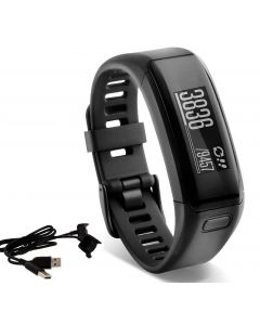 Garmin vívosmart HR Activity Tracker Regular Fit - Black, with extra Charger